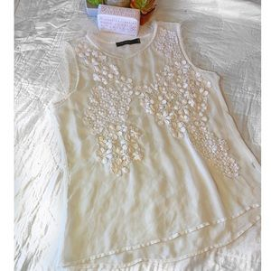 The Limited Gauzy detailed embroidery Tanktop Med
